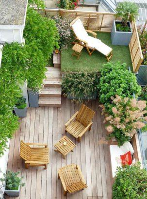 Bankiraï Terraza en patio pequeño