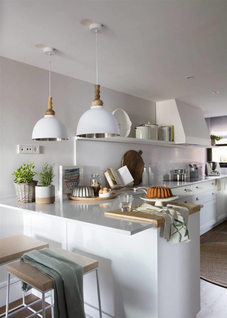 Cocina Con Peninsula Moderna