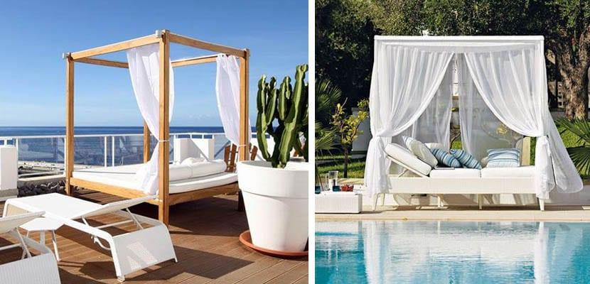 camas balinesas para piscinas